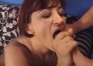 Redhead doesn't mind fucking her son