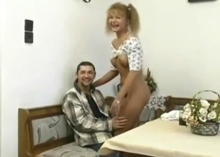 White panties seductress fucking her brother/son