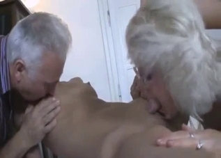 Naked blonde punished by her horny parents