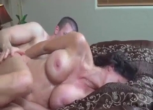Busty brunette banging her big-dicked son