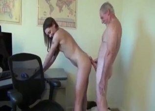 Tatted-up and skinny slut rides her dad's cock
