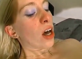 Tanned blonde ass-fucked by her father