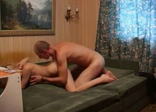Doggy style drilling with her hung son