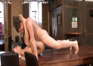 Vicious sideways incest fucking on a table