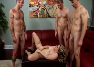 Glasses-wearing MILF begs for son's load