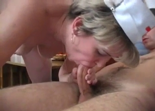 Nurse mommy fucking her shit-faced son