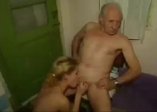 Blonde and her brunette sister fucking dad and uncle