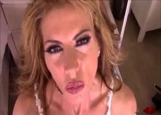 Blonde mommy gets fingered by her son