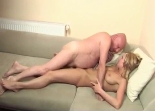 Leggy blonde fucking her own father