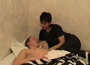 Caring mother decides to fuck her hung son